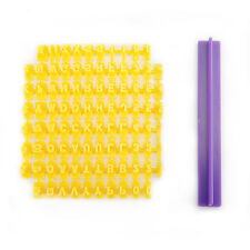 Moule Lettre d'Alphabet + Chiffre Composition Pâte à sucre Biscuit Embosser #410