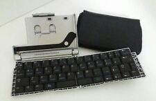 Tastiera Pieghevole Portatile Wireless Infrared keyboard con custodia pelle nera