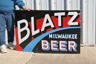 """Large Blatz Beer Milwaukee Bar Tavern 46"""" Porcelain Metal Neon Skin Sign"""