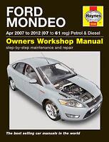 Haynes Ford Mondeo Petrol & Diesel (Apr 07 - 12) 07 to 61 Workshop Manual 5548