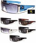 New Mens Khan Sport Sunglasses Shield Biker Driving Designer