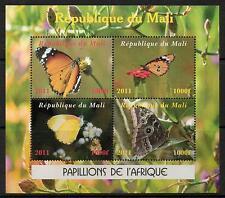 MALI BUTTERFLIES  SHEETLET (3)  MNH