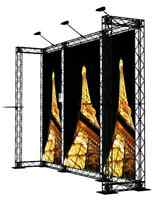 Crosswire exhibits 10x10 booth display trade show pop-up banner stand