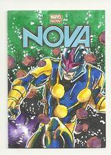 2014 Upper Deck Marvel Now 1/1 Sketch NOVA By Artist Darren Chandler