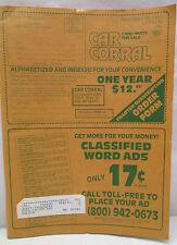Vintage Car Corral Cars Parts For Sale Catalog Magazine November 10th 1989