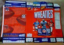 NFL All Pro Running Backs Wheaties Flat Cereal Box - Thomas, Sanders & Allen