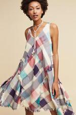 Anthropologie  Metallic Plaid Dress NWT new XS