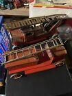 Mettoy Tinplate FIRE ENGINE & FIGURES Plus Other?
