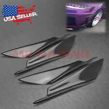 4Pcs Real 3k Carbon Fiber Front Bumper Lip Body Kit Diffuser Canard Splitter S06
