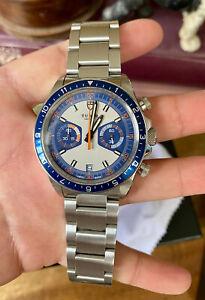 Tudor Chronograph Heritage Watch 70330B Blue Monte Carlo Chrono