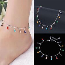 Sandals Water Droplets Vintage Feet Jewelry Ankle Bracelet Barefoot Women