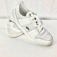 Lacoste Men's Sport White Leather Lace Up Sneakers Size 12