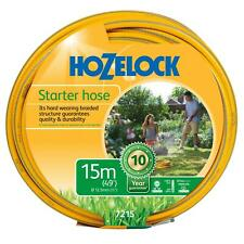 Hozelock 15m Starter Garden Hose Pipe Maxi Plus Hard Wearing Weatherproof 12.5mm