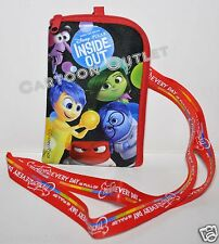 INSIDE OUT LANYARD case bag IPHONE POUCH PINS HOLDER/Wallet coin purse BLACK DIS