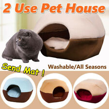 New listing Foldable Cat Dog House Removable Puppy Bed Cave Pet Folding Soft Warm 3 Colours