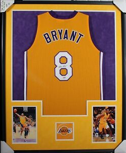 Kobe Bryant #8 Los Angeles Lakers  (AUTOGRAPHED) Framed Jersey (PSA/COA)