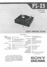 SONY PS-X9 Service Manual PS X9