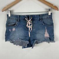 Billabong Womens Shorts 26 Blue Denim