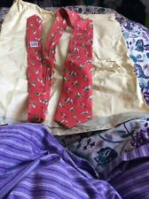 Hermes 100% Silk Tie  Bird Used