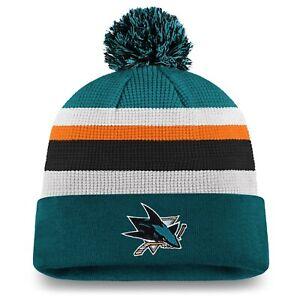 San Jose Sharks 2020 NHL Hockey Draft Authentic Pro Cuffed Pom Knit Toque Cap