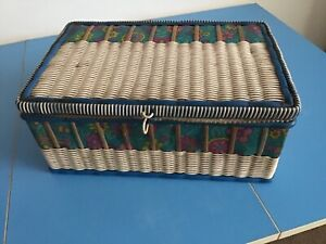 1960s Sewing Basket & Contents