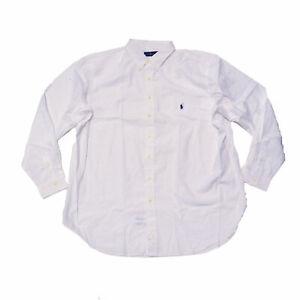 Polo Ralph Lauren Mens Buttondown Big & Tall Long Sleeve White 2xlt Damaged New