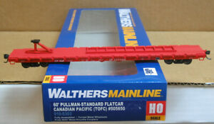 WALTHERS 910-5304 HO Canadian Pacific (TOFC) 60' PS Flat Car #505707