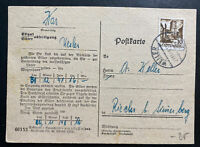 1948 Weiler Germany Allied occupation Commercial Postcard Cover