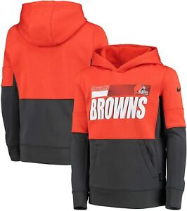 Cleveland Browns Nike Youth Boys Performance Pullover Hoody Sweatshirt