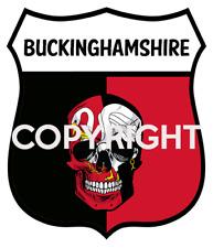 BUCKINGHAMSHIRE Map-Flag Bucks UK Sticker Bumper Decal