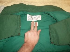 Class 5 Goose Down Vintage Parka Puffer Jacket Coat Rare USA Medium DURABLE READ