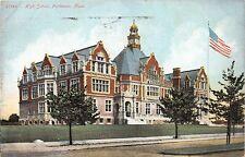 FAIRHAVEN MASSACHUSETTS HIGH SCHOOL POSTCARD c1907