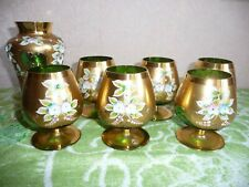 Beautiful Family Set of 7 Crystalite Bohemia Cognac Wineglass
