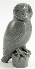 Barn Owl Figurine & Pen Holder Quintessence Polished Grey Stone Boxed - Made UK