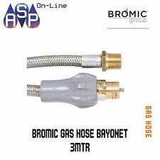 Bayonet Gas Hose - 10mm Stainless Steel - 3000mm w/ handle-10HEG3000