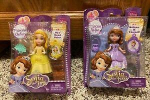 "Disney Sofia the First Mini Princess Amber Doll 3"" 4 Magical Castle Yellow Dress"