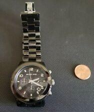 Black Dial Black Ceramic Bracelet Oversized Watch No. MK5164