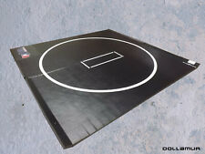 10'x10'x1.25 34; Dollamur Flexi-Roll Mma - Wrestling Mat - Black w/Circle