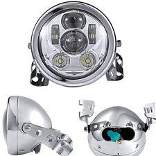 "5.75"" Universal Motorcycle Projector Daymaker Headlight Chrome Mount Bracket"