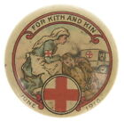 WWI Australian Red Cross Button For Kith and Kin