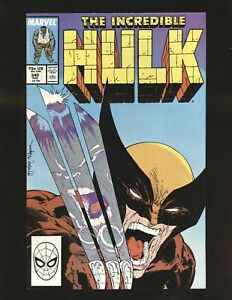 Incredible Hulk # 340 - McFarlane Wolverine cover VF/NM Cond.