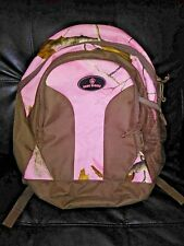 Realtree Game Winner Girls Womens Pink Camouflage Fall Hunting Backpack