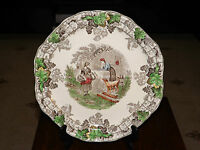 Vintage Copeland Spode Byron 4 Sectioned Hors D' Oeuvres, Sandwich Plate. c1930s