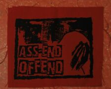 Punk Back Patch Ass-End Offend hardcore punk anarchopunk crust punx