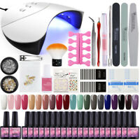 Coscelia 20PC Soak Off Gel Polish Kit with UV LED nail Lamp DIY Starter Manicure
