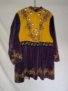 Antique Odd Fellows Purple And Yellow Jacket