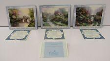 "Thomas Kinkade ""Bridges Of Life"" Bradford Exchange Set of 3 Ceramic Art"