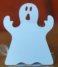 10x Small 3D Halloween Ghost Cut Outs. Sweetie Holders. Cardstock.