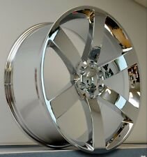 "(4) 24"" SS Rims Wheels Chrome Silverado 1500 Sierra Tahoe Escalade Denali GMC"