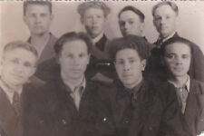 1950s RARE Group of young men friends gay interest Russian Soviet photo
